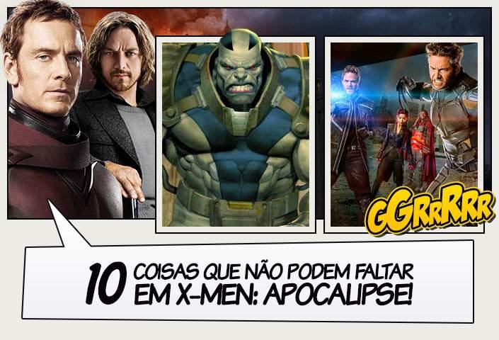 351ddfcd5d7ca 10 Coisas que não podem faltar em X-Men  Apocalipse! - Legião dos Heróis