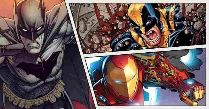 Capa - 10 super-heróis da Marvel e da DC que são completos babacas!