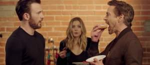 Capa - Guerra Civil - Robert Downey Jr. e Chris Evans brigam pelo último donut em vídeo hilário!
