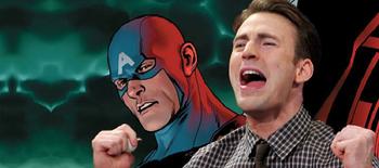 Capa - Chris Evans fala sobre a grande revelação do Capitão América nos quadrinhos!
