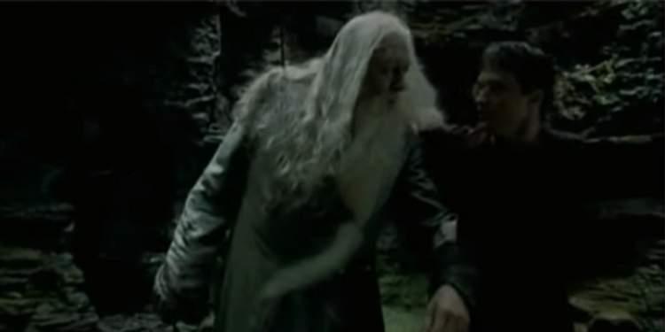 A segurança de Harry e Dumbledore
