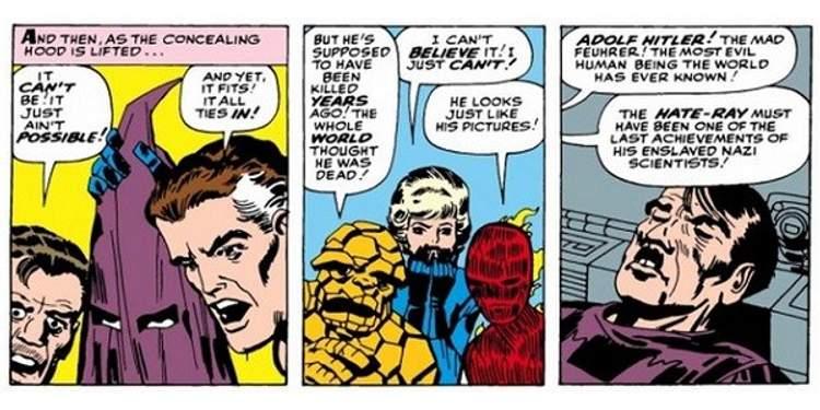Resultado de imagem para luta com hitler quarteto fantastico quadrinhos