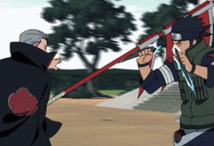 Asuma vs Hidan
