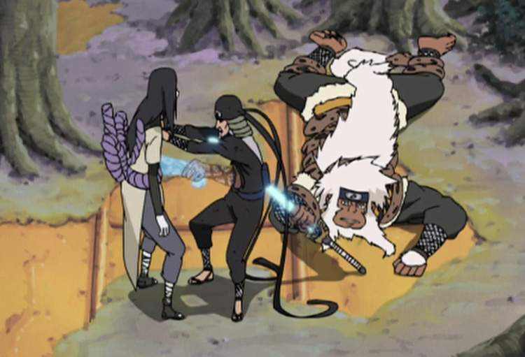 Sandaime vs Orochimaru