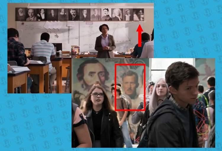 Howard Stark e Bruce Banner (Escola de Peter)