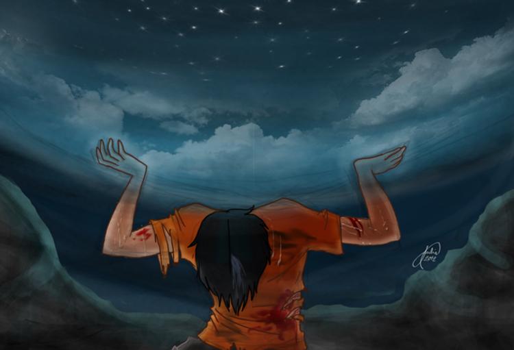 Percy segurando o céu