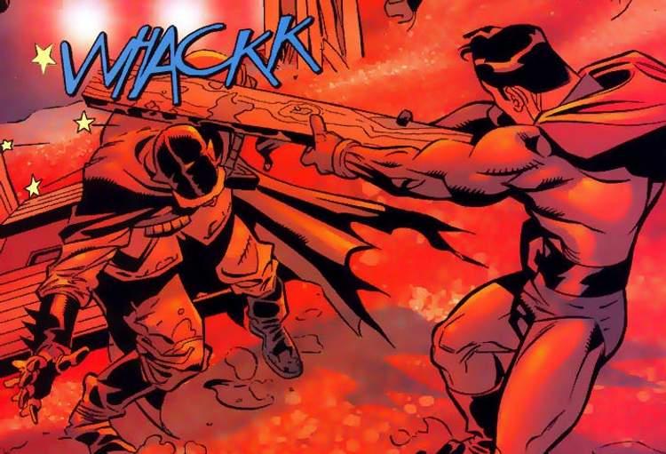 Batman esmagado entre a Foice e o Martelo