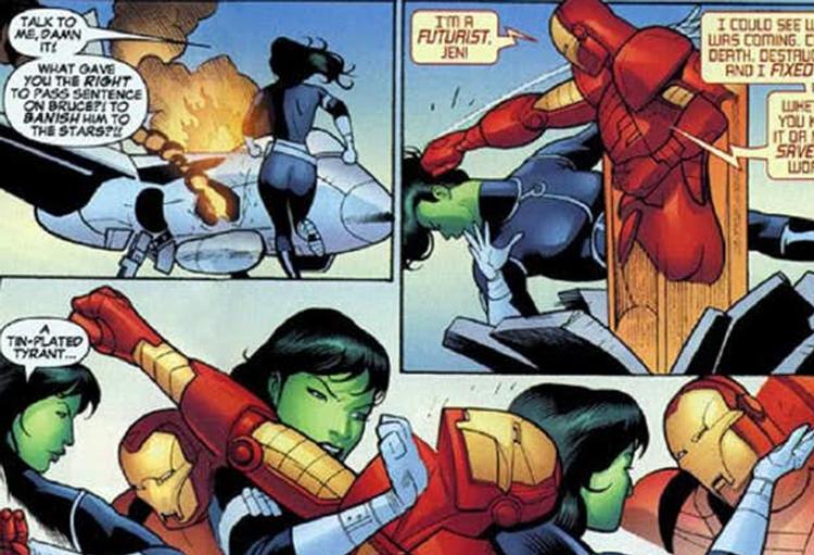 Lutando contra o Homem de Ferro