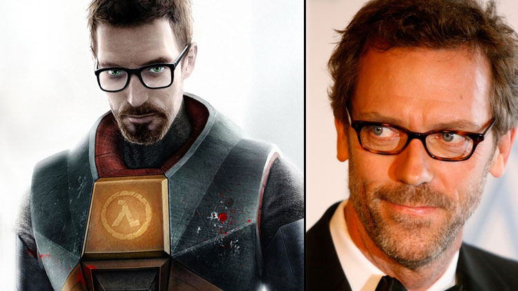 Hugh Laurie e Gordon Freeman