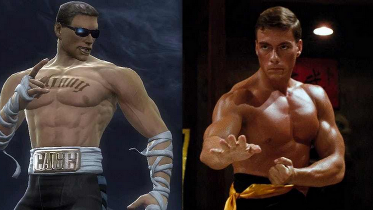 Jean Claude Van Damme e Johnny Cage