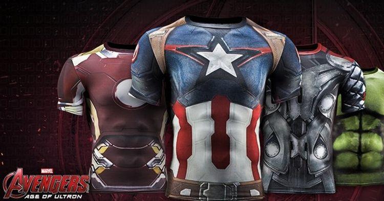 7fba938ac2b Vingadores  Era de Ultron - Confira roupas esportivas oficiais do filme! -  Legião dos Heróis