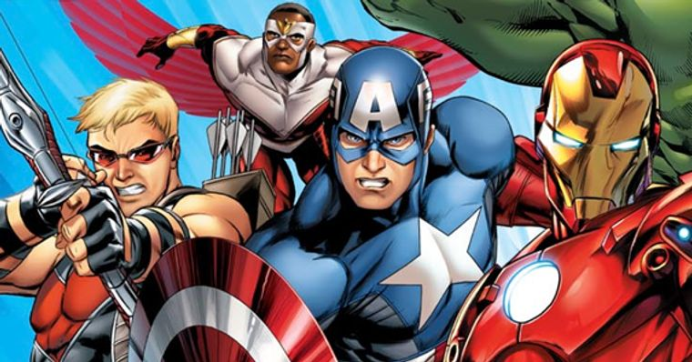Capitao America Enfrenta Falcao Em Avengers Assemble